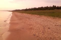 Lake Michigan beach along US-2